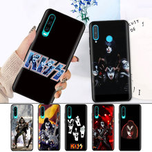 Hitam Silikon Cover Case untuk Huawei P30 P20 P10 Mate 20 10 Lite Pro Nova 4 4E 3E P Smart 2019 PLUS Shell Gene Simmons Kiss Band(China)