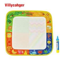 50 шт./лот 29x30 см нетоксичный коврик для рисования водой с 1 волшебной ручкой для детей 8811 1