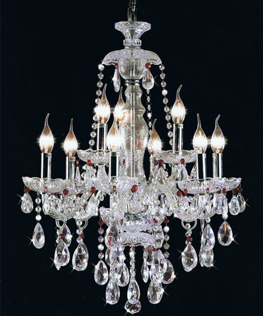 paris style clear purple crystal chandelier silver candle holders