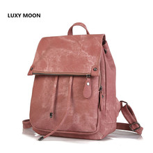 College Style Shoulder Backpack Women's 2019 Cross-Border New Trend High Quality PU Leather Fashion Solid Color Ladies Bag