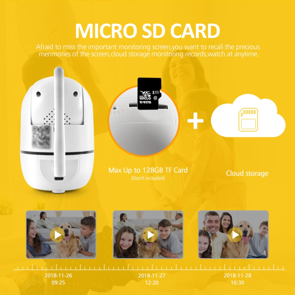 Mini Wireless IP Camera 1080P Two Way Audio Surveillance Network Cloud Storage WIFI Camera IR 10M Baby Monitor Auto Track