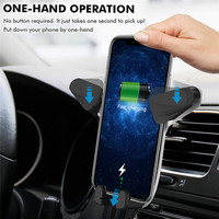 New 2019 High Quality Convenient Durable Wireless Car Charger Gravity Fast Charger Car Mount Air Vent Phone Holder 10W#292703