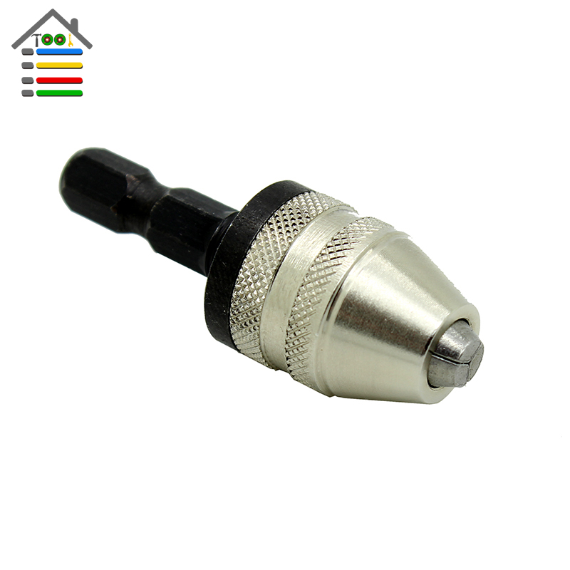 Free Shipping 6mm Keyless Drill Chuck Screwdriver Impact Driver Adaptor Hex Shank Drills Grinder Converter