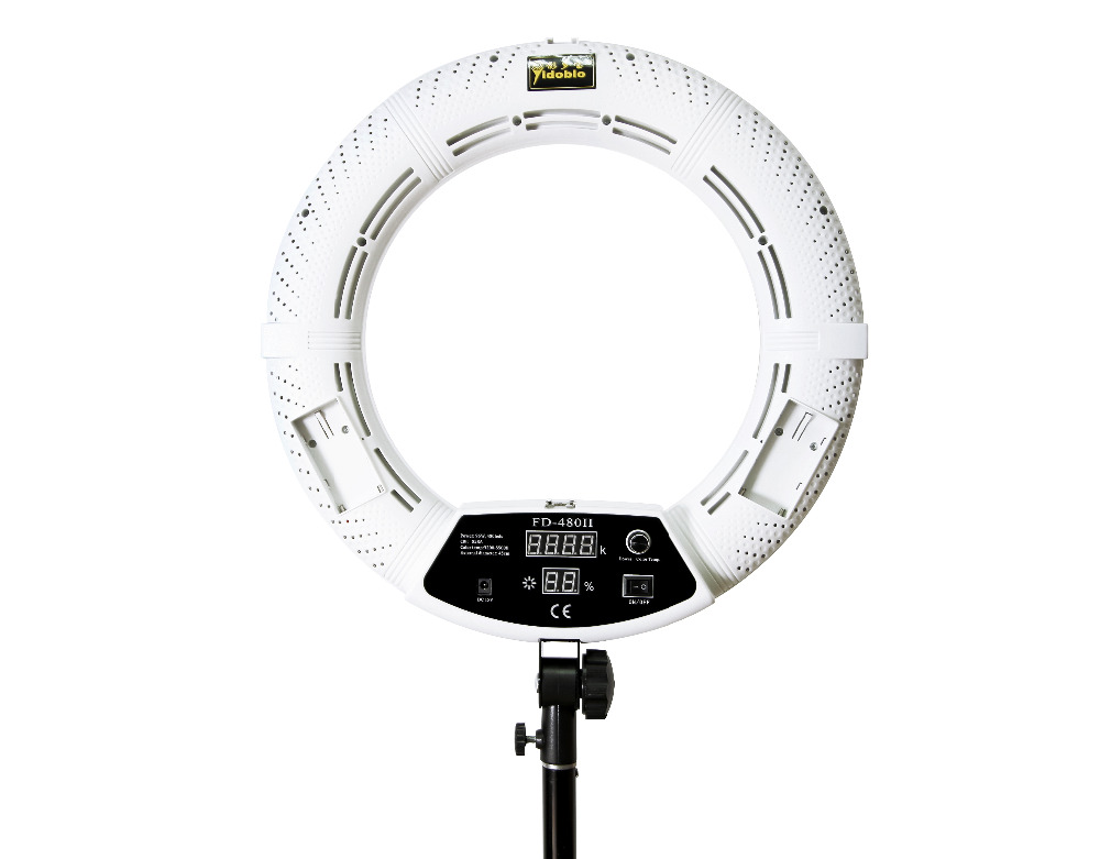 Yidoblo RU shipping FD-480II white Bi-color Photo Studio Ring Light LED Video Lamp Photographic Lighting 96W 5500K 480LED Lights