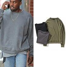 Vintage gran tamaño sudadera Kanye West lavado de sudaderas con capucha y sudaderas Hip hop extraño las cosas