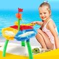 2016 Verano Mesa de Arena y Frotando Niños Del Cabrito Del Bebé Del Juguete de la Playa de vacaciones de Verano Al Aire Libre juguetes para el baño Set 11 unids/set de fin de semana