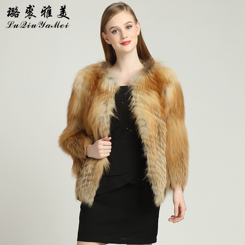 Red Fox Fur Coats Weibliche Naturfuchsfelljacken Short Style Can - Damenbekleidung - Foto 1