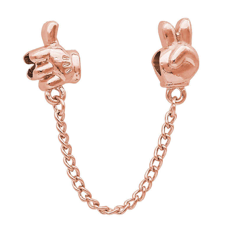 Moda de nova Prata Ouro Rosa Mickey Minnie Borboleta corrente de segurança Encantos Fit Pandora Originais Talão Pulseira Para As Mulheres Charme