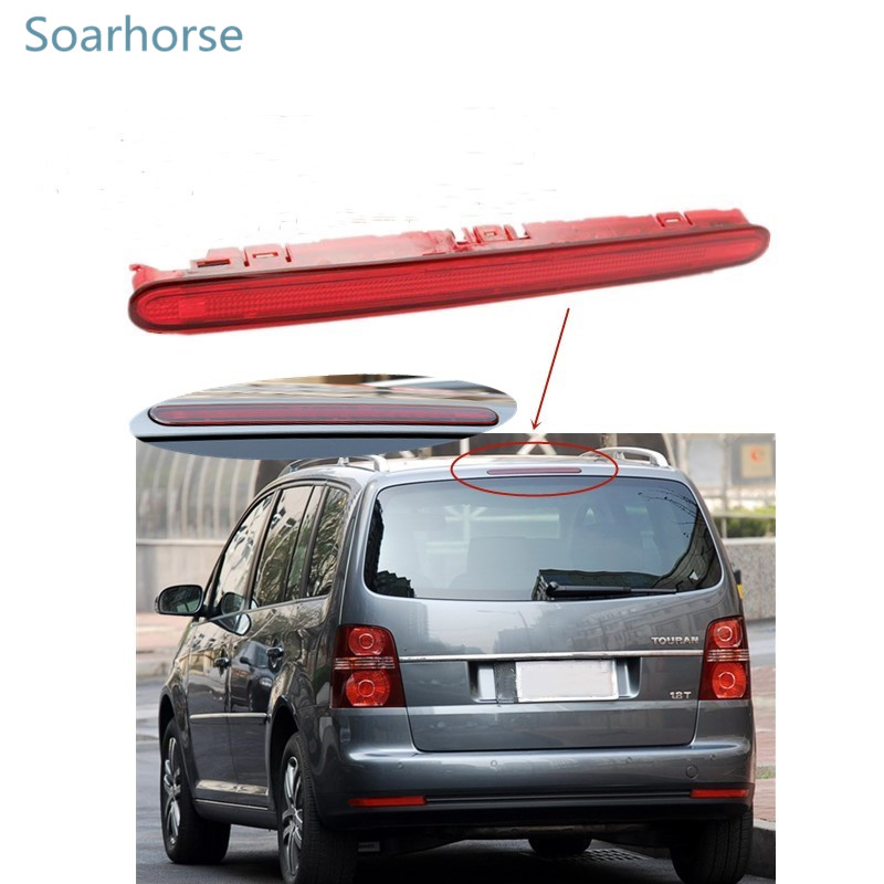 Soarhorse for Volkswagen VW Touran 2003-2010 Car High mounted Additional light Rear 3rd Third Brake light stop lamp mzorange car high positioned mounted additional rear third brake light stop lamp for vw polo 9n 2002 2006 2007 2008 2009 2010