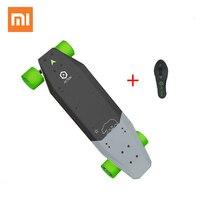 Xiaomi Эктон интеллектуальные Беспроводной удаленного Управление Электрический скейтборд светодио дный свет 12 км выносливость 100 ~ 240 В для 16 д