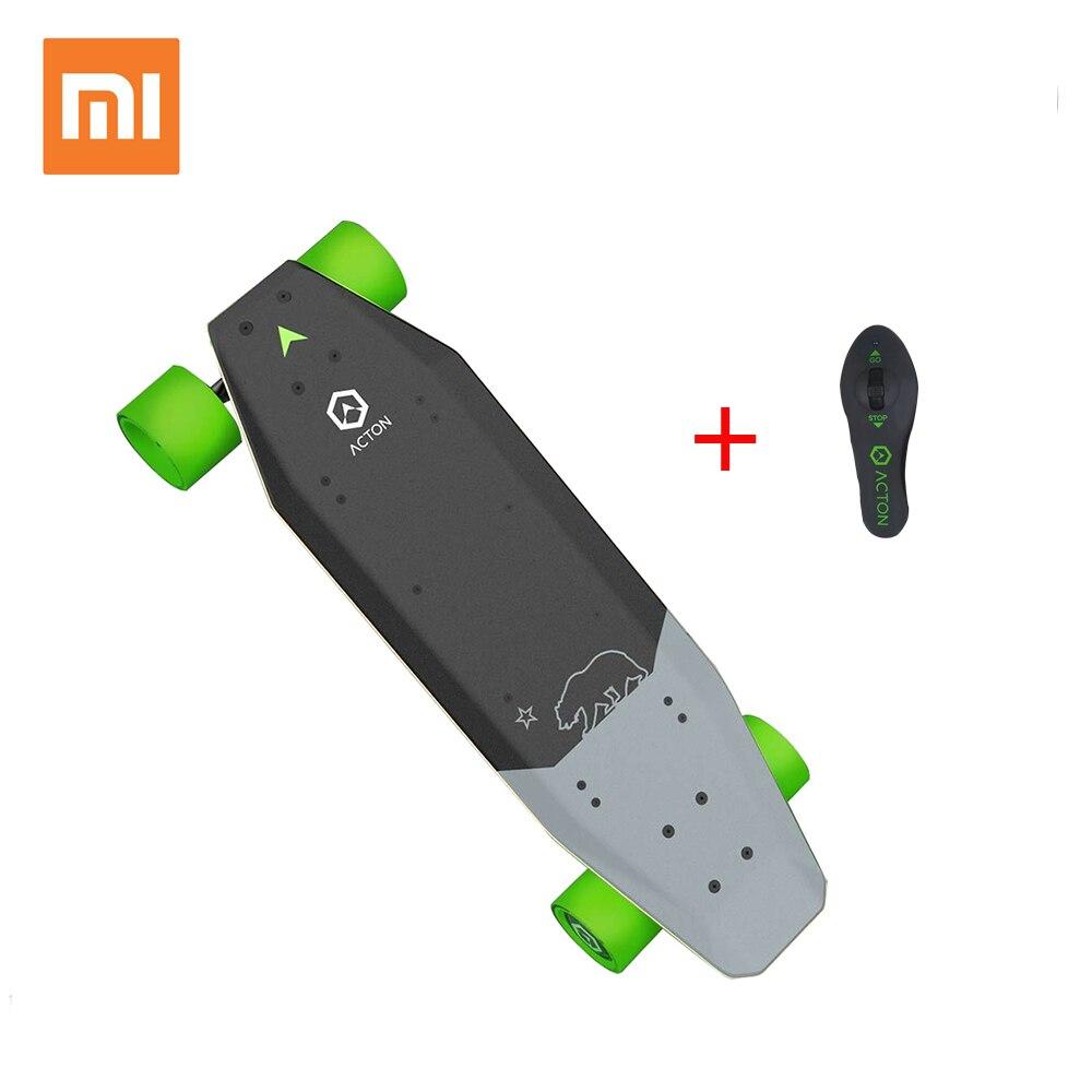 Xiaomi ACTON Skate Elétrico de Controle Remoto Sem Fio Inteligente LEVOU Luz 12 km Endurance 100 ~ 240 v para 16 para 50 ano Velho