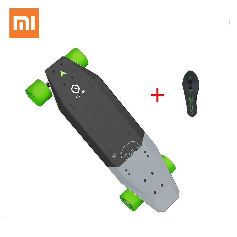 Xiaomi Skate Elétrico de Controle Remoto Sem Fio Inteligente de ACTON 12 Km Resistência do DIODO EMISSOR de Luz 100 ~ 240V para 16 para 50 ano Velho