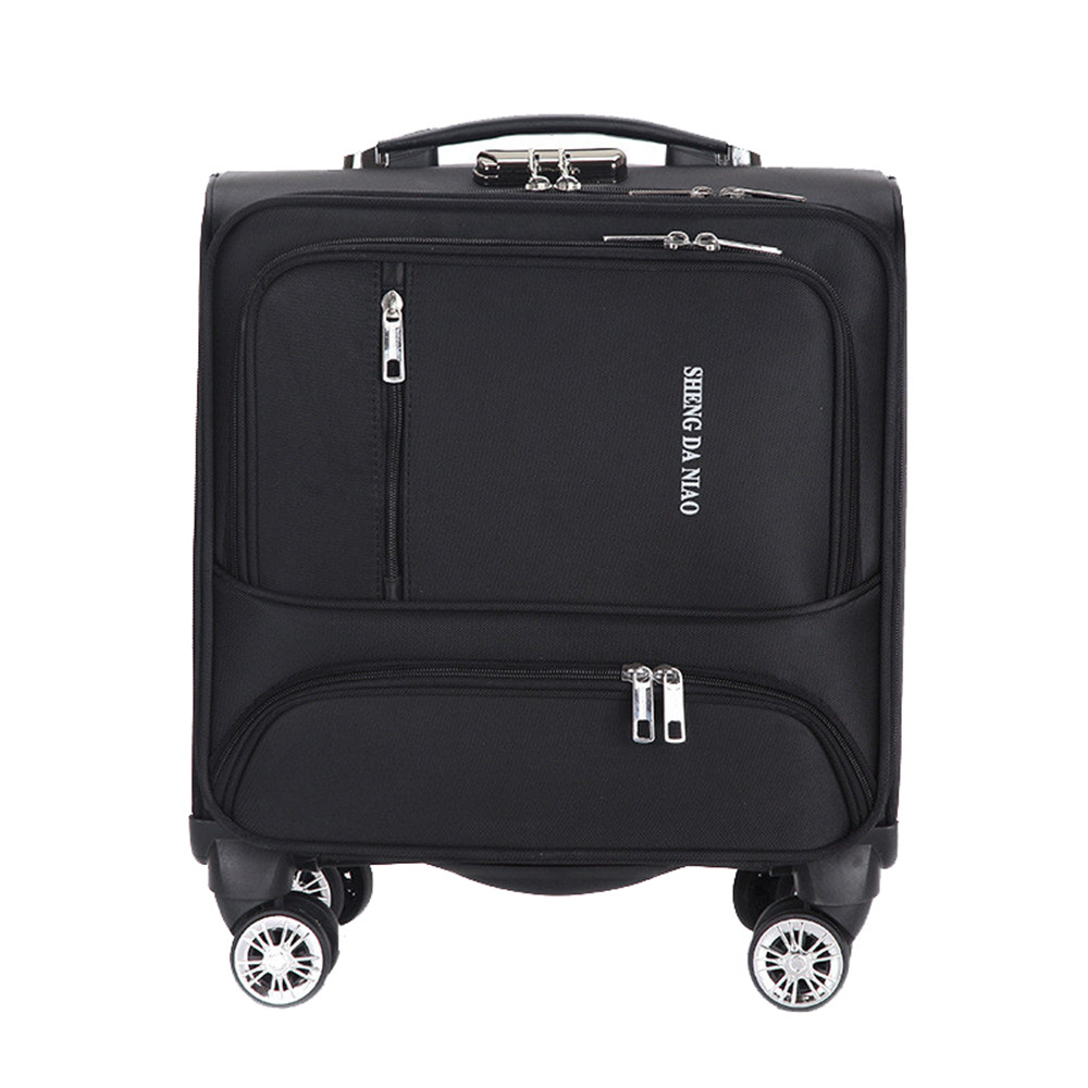 Fashion Commercial Travel Suitcase Universal wheel Aluminium alloy rod Trolley Oxford cloth boarding box password box