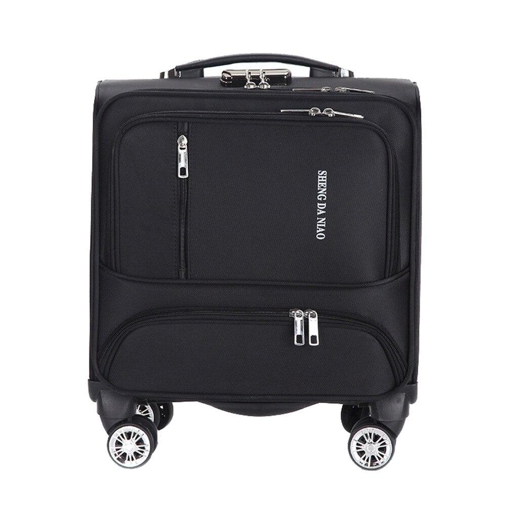 ファッション商用旅行スーツケースユニバーサルホイールアルミ合金棒トロリーオックスフォード布搭乗ボックスパスワードボックス  グループ上の スーツケース & バッグ からの キャスターバッグ の中 1