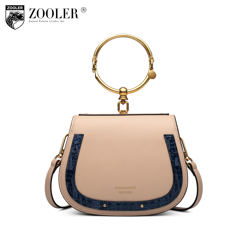 ZOOLER 2018 Fashion Popular Small Circular Genuine Leather Bags Handbags Women Famous Brands Messenger Shoulder Bag Sac A Main zooler fashion genuine leather bags handbags women famous brands lady 2017 new winter shoulder bag ladies casual tote sac a main