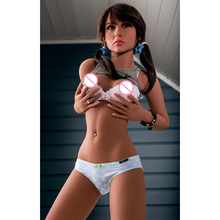 Real Doll for sex full body silicone with metal skeleton inside 157cm B cup pussy sex dolls for adult male sexy toys