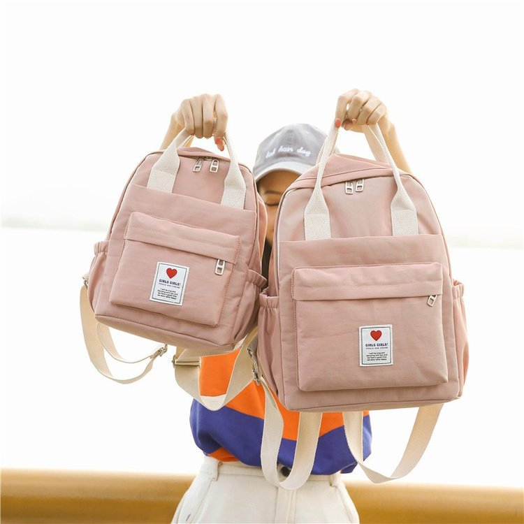 Women Cute Backpacks Candy Color 2019 Summer New Fashion Cute Soft Girls Fresh Female School Students Schoolbag Shoulder Bags