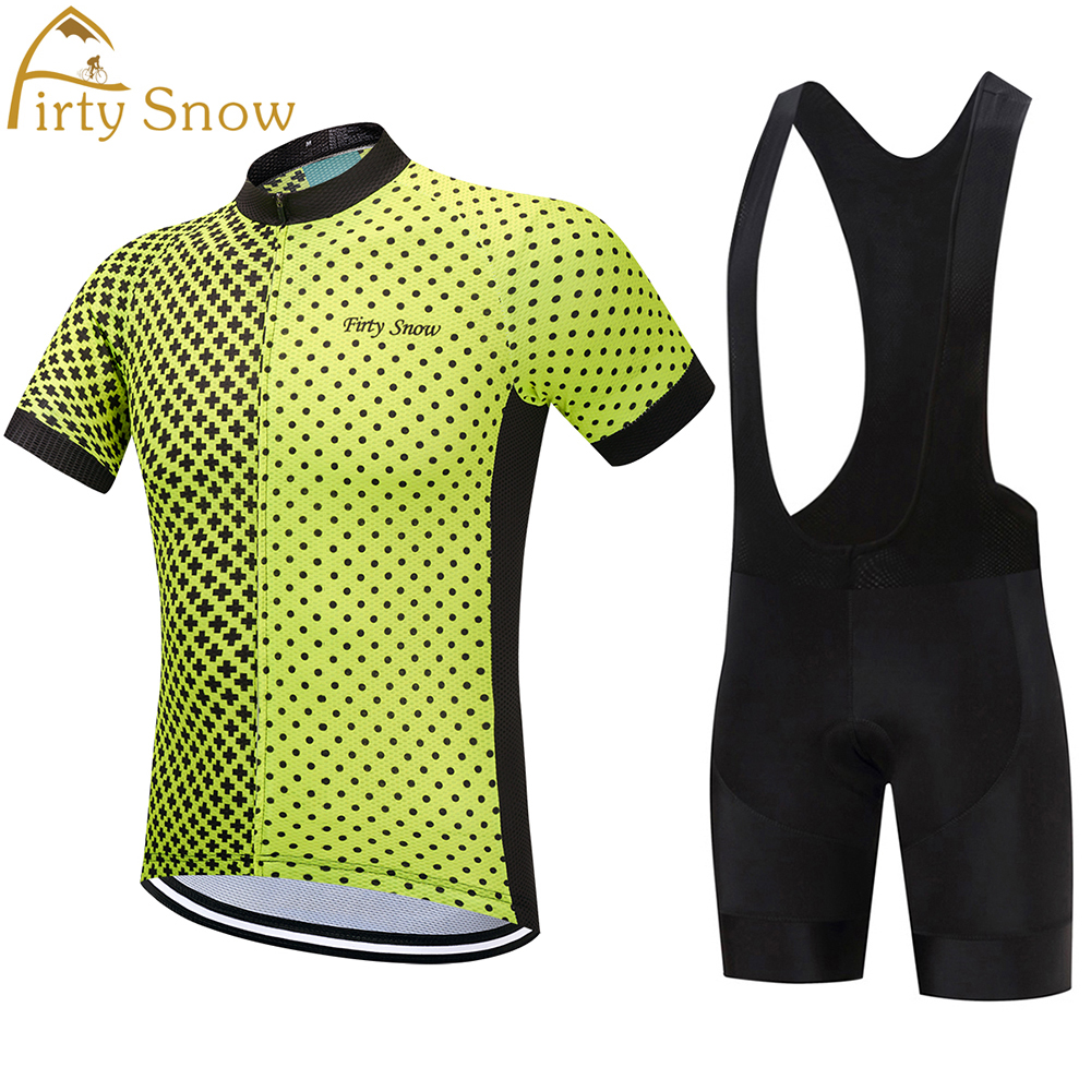 Firty snow Cycling Jersey 2018 Bike Clothing Men Quick Dry MTB Bicycle Short Sleeve Set Shorts 9D Pad cheji men original camouflage green cycling jersey mtb outdoor breathable bike short sleeve clothing bicycle jersey s 3xl