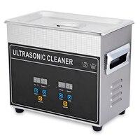 150 Вт 3.2L цифровой Ванна ультразвуковой очистки Ультразвуковая машины с нагреватель таймер глубокой очистки ювелирных изделий Ложные зуб бр