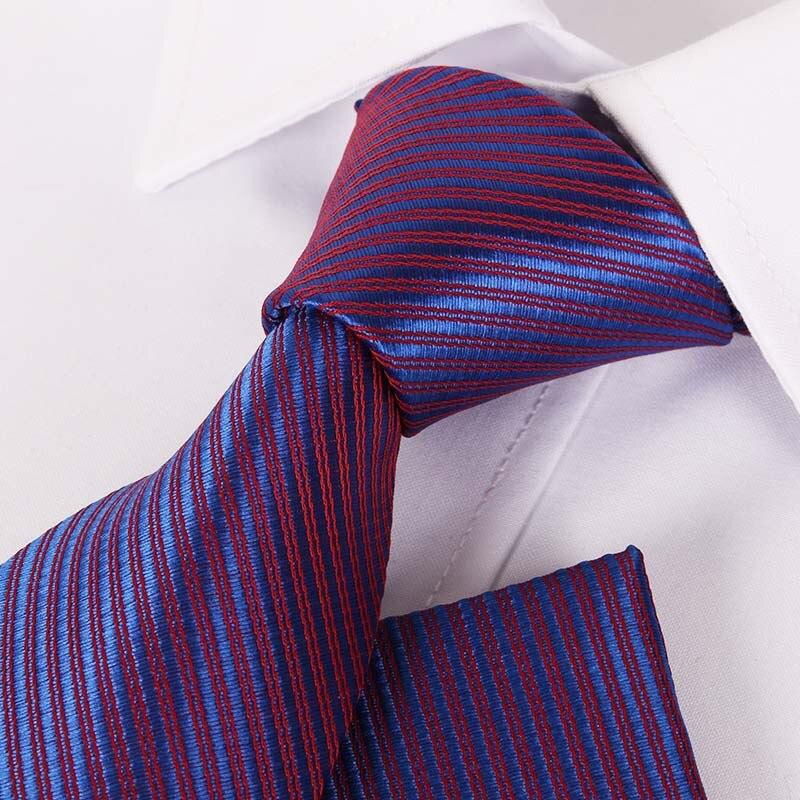 TieSet Mens Polyester Silk Tie 8cm Big Narrow Striped Floral Dots Necktie Casual Gravata Wedding Party Business T-145