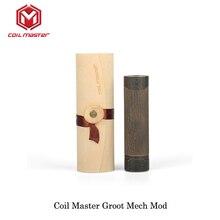 Original Coil Master Groot Mech Mechanical Mod Black Color 510 Thread 18650 Battery Electronic Cigarette Vape Mech Mod Brass