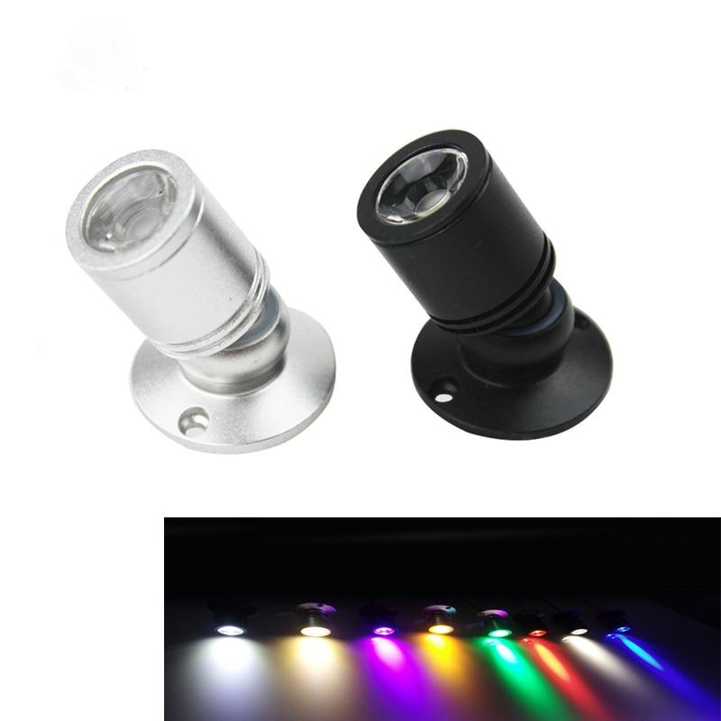 Focos LED Mini luces abajo de techo led 1W 3W AC85-265v bombillas montadas en superficie para vitrina