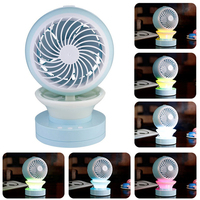 NEW Portable Outdoor Mini Fans With LED Lamp Light Table USB Fan Spray Water Humidifier Personal
