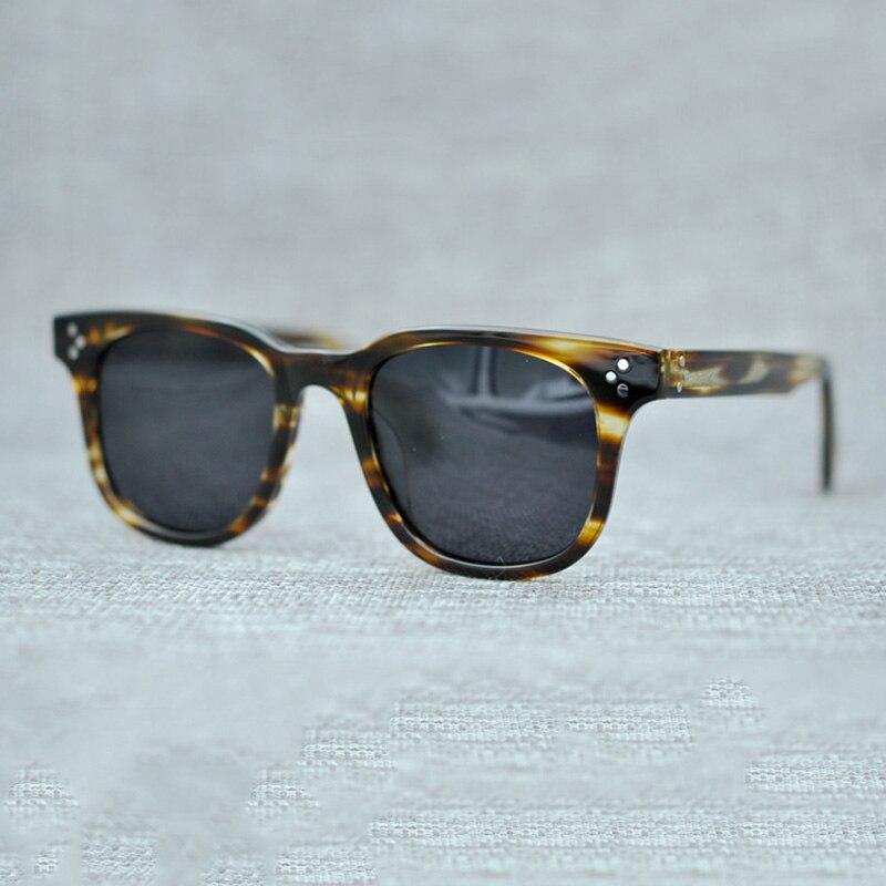 Cubojue lunettes de soleil hommes polarisées femmes 2019 marque lunettes homme acétate épais cadre tortue noir Polaroid lunettes de soleil carré UV400