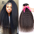 7A Brazilian Virgin Hair Kinky Straight Hair Weave Human Hair Bundles Kinky Straight Brazilian Hair Weave Bundles Coarse Yaki