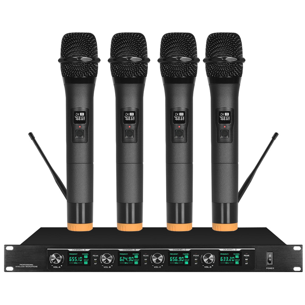 Wireless Microphone Microphone One For Four Conference System Gooseneck / Lavalier Type Head-mounted Professional Performance