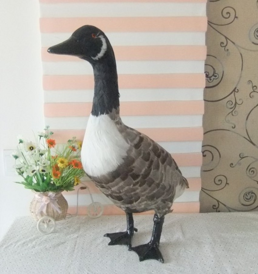 new big simulation wild goose toy polyethylene & furs bird doll wild goose gift about 45x20x55cm