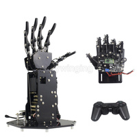 Bionic Robot Hand Palm Fingers Robotic DIY Kit /High Torque Manipulator Wireless Handle /Somatosensory Control Open source