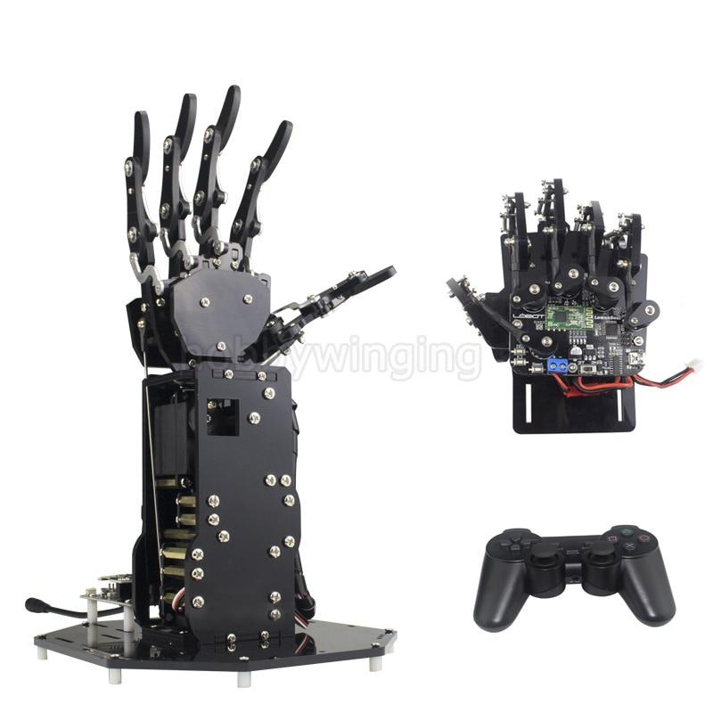 цена на Bionic Robot Hand Palm Fingers Robotic DIY Kit /High Torque Manipulator Wireless Handle /Somatosensory Control Open source