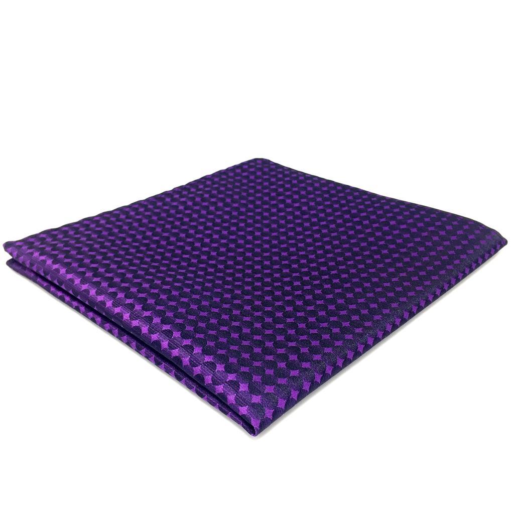 FH15 Solid Purple Mens Pocket Square Handkerchief Fashion Hanky