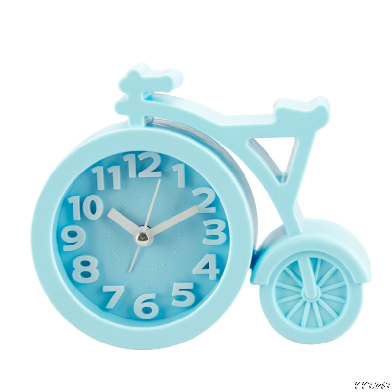 Portable Mini Mute Alarm Clock Bicycle Clocks Battery Bedside Desk Decor Gift Y110-Dropshipping