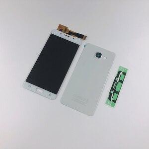 Image 2 - Pour Samsung Galaxy A5 2016 A510 A510F A510FD A510M A510Y LCD écran tactile numériseur assemblée + boîtier batterie couverture arrière