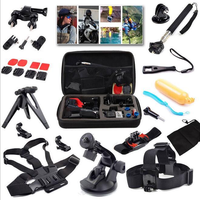 JIAYOLIVE 15-en-1 Gopro 5 4 3 + ensemble d'accessoires de caméra de sport Compatible avec XIAOYI SJCAM