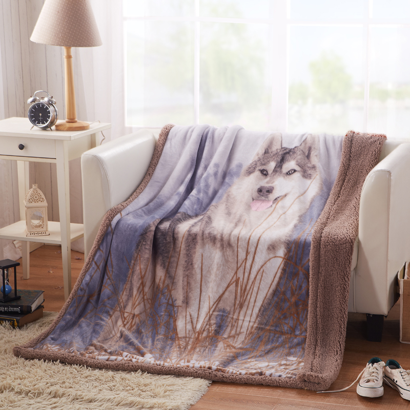 top quality flannel berber fleece blanket double layer blanket throws on