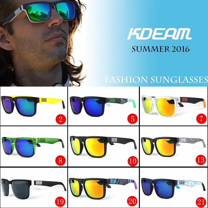 b3db599de5 Kdeam Summer 2016 Sport Sunglasses Men Reflective Coating Square Sun  Glasses Women Brand Designer UV400 With Original Case KD901