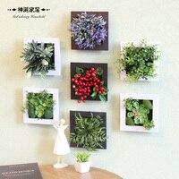 3D 인공 식물 장식 스테레오 인공 꽃 벽 스티커 빈티