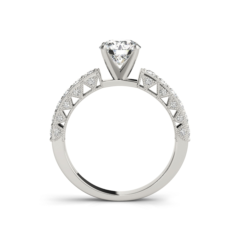 COLORFISH 0.7 Carat Round Cut Solid 925 Sterling Silver 2-Pcs Jewelry Wedding Anniversary Engagement Ring Sets For Women