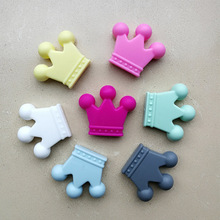 Silicone Beads Crown For Jewelry Making Bpa Free Baby Teether Pendant Accessories Diy Pacifier Soothe The Chain Toy