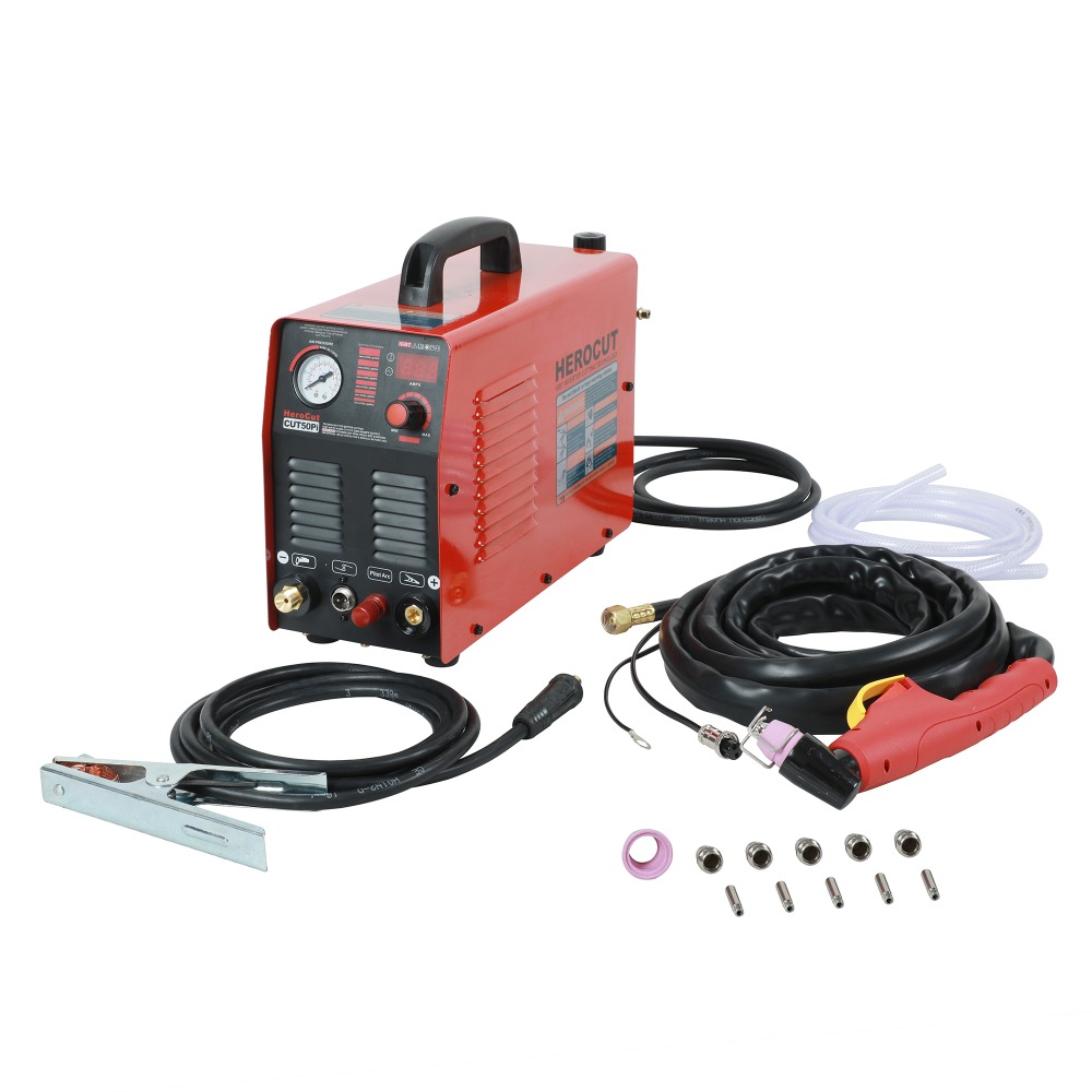IGBT Pilot Arc HF CUT50Pi 50Amps DC Air Plasma Cutter Plasma cutting machine Cutting Thickness 14mm Clean Cut quality assurance panasonic air plasma cutting accessories reasonable price tips plasma electrodes