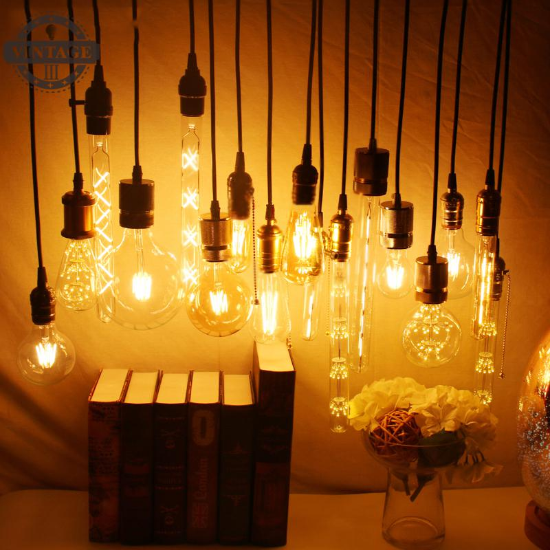 Antique Retro Glass Filament Light Bulb Lampada Vintage LED Edison Bulb Bombillas ST64 G80 LED Lamp E27 E14 220V 2W 4W 6W 8W retro vintage edison bulb led lamp e27 led filament glass light bulb 220v e27 energy saving lamps light 2w 4w 6w 8w 220v st64