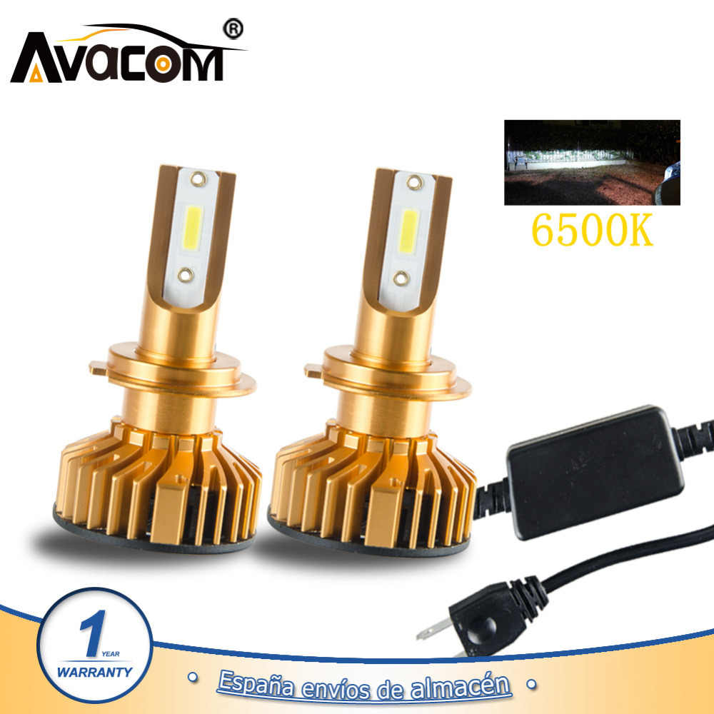 Avacom H7 H4 LED Turbo Car Light 12000Lm 12V LED 9005/HB3 9006/HB4 H1 H11 24V 6500K White COB 72W Auto Lamp Ampoule LED Voiture