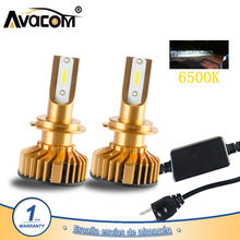 Avacom H7 H4 LED Turbo Car Light 12000Lm 12V LED 9005/HB3 9006/HB4 H1 H11 24V 6500K White COB 72W Auto Lamp Ampoule LED Voiture(China)
