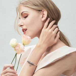 Image 4 - BAMOER Real 925 Sterling Silver Spring Flower Colorful Enamel Charm Bracelets & Bangles for Women Sterling Silver Jewelry SCB804