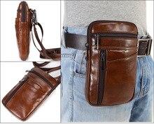 Para xiao mi max 2 max2 max 3 max3 caso cinto clipe bolsa de couro genuíno saco da cintura do telefone móvel coldre capa frete grátis gota