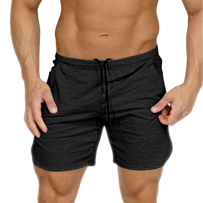 Shorts Slim Men Black Bodybuilding Pants