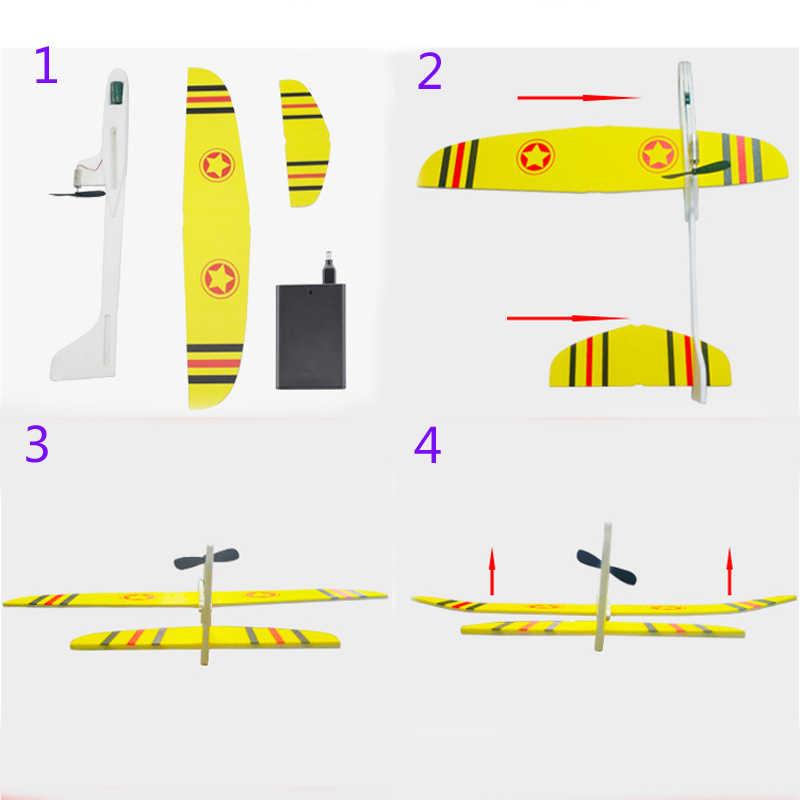 Hotrc Hand Werfen Flugzeug Frei fliegenden Fix Flügel Schaum Kondensator Elektrische Segelflugzeug DIY Flugzeug Modell Pädagogisches Spielzeug für Kinder
